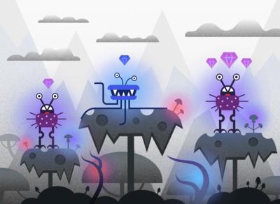 Jungle & Microbes — Illustration