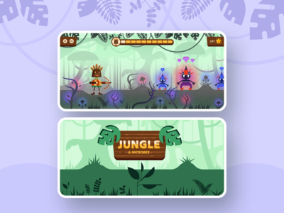Jungle & Microbes — Mobile Game