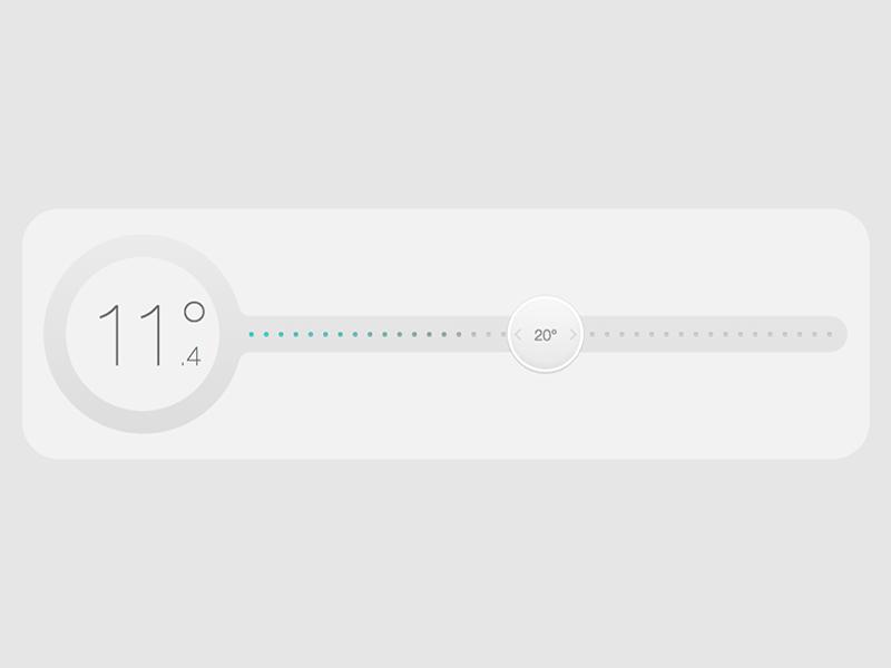 Thermostat Interface app web smarthome interface design