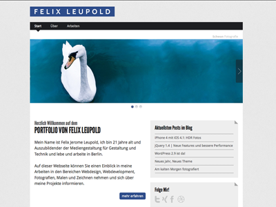 Felix Leupold Portfolio portfolio webdesign responsible html5 css3