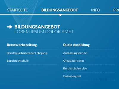 ELS Navigation + Subnav menu submenu navigation subnavigation