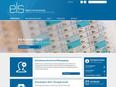 ELS Screendesign website homepage screendesign school ui vocational school clean flat