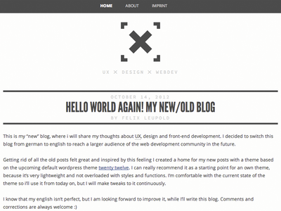 new blog design - xiel webdesign blog blog theme logo headline webfonts