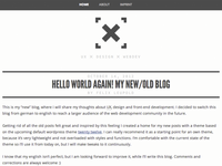 new blog design - xiel