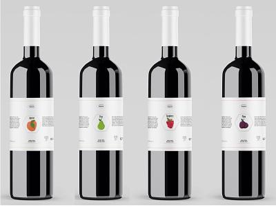 Rakija bottles labels alchohol liquid drink brandy bottles logo branding design