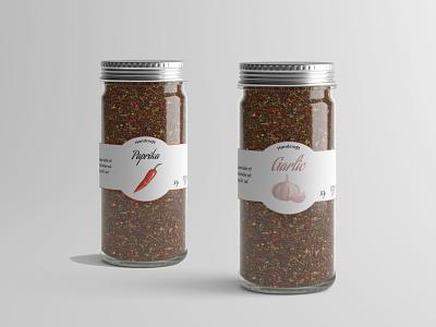 Spices adobe illustrator logo illustrator design spices glass jar jar label design label labeldesign cratf handicraft paprika galic spice