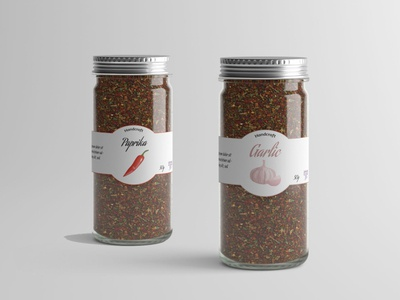Spices adobe illustrator logo illustrator design spices glass jar jar label design label labeldesign cratf handicraft paprika galic spice