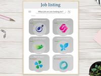 Daily UI #50 - Job Listing