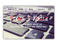 Daily UI # 51 - Press And Media