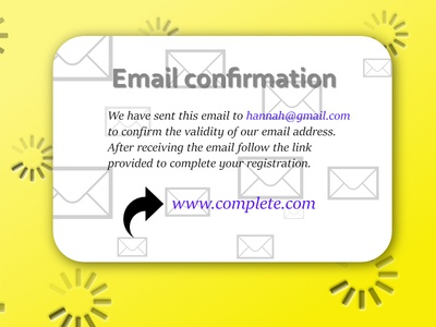 Daily UI #54 - Email Confirmation