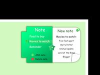 Daily UI #65 - Note Widget