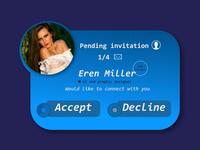Daily UI # 78 - Pending Invitation