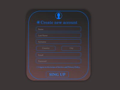Daily UI #90 - Create New
