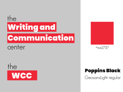 Chosen Logo for Writing & Communication Center Rebrand