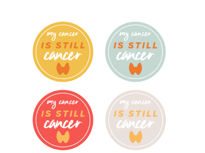 Thyroid Cancer Survivor Awareness Sticker Drafts