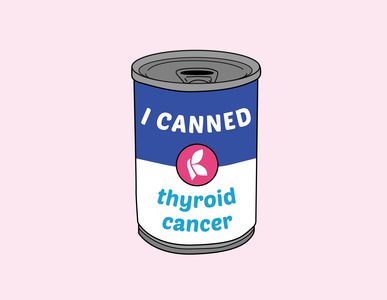 Thyroid Cancer Sticker Draft