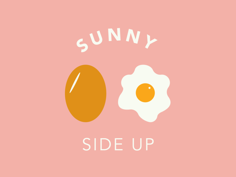 Word challenge - Sun -Sunny Side Up pink avenir black avenir book avenir eggs graphic design illustration vector typography design