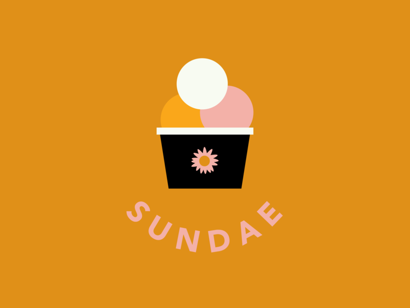 Wordchallenge - Sun - Sundae icon avenir illustrator vector graphic design illustration logo typography logo design design