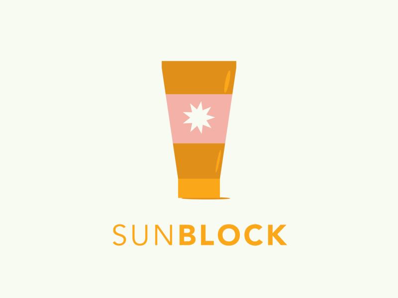 Sunblock - Word challenge - Sun vector design vector artwork sunscreen sunblock vector art challenge avenir illustrator vector icon graphic design illustration logo typography design