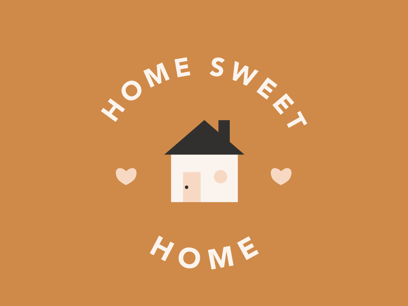 "home sweet home — ""sweet"" Instagram challenge logo design vector art home sweet home home logo avenir digital art vector"