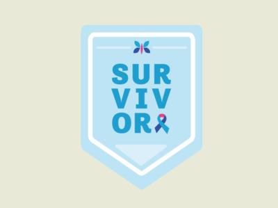 Redesigned Thyroid Cancer Survivor Sticker