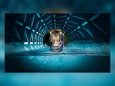 Tiger tiger mattepainting matte painting photoshopmanipulation illustration design art concept digital painting matte photoshop