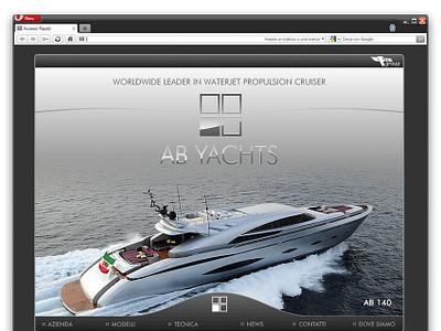 AB Yachts website yachts branding design