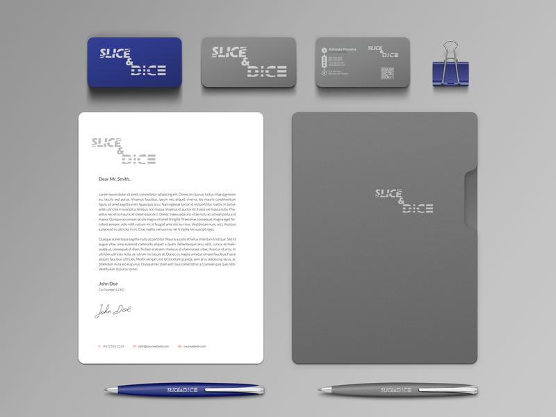 Branding Identity-Slice&Dice graphic  design branding logo design