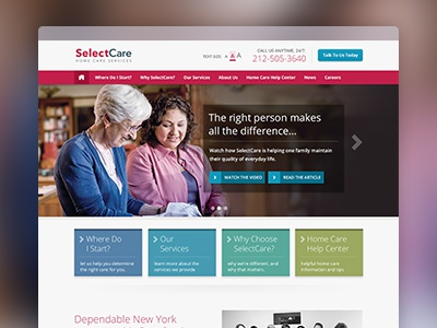 Selectcare Dribbble Shot home care home health care elderly care in home care