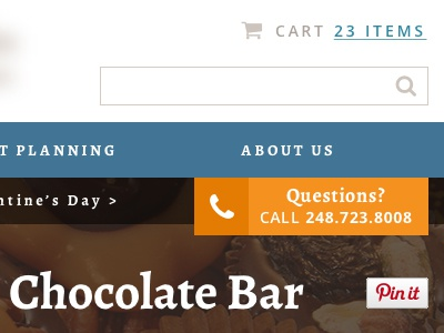 Chocolate Company Header WIP header menu breadcrumb