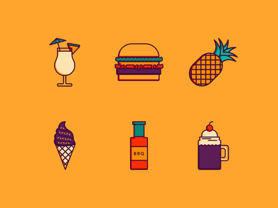 ICON THERAPY - food set summer icons graphic design vector icons icon set icon design icon therapy