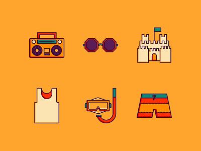 ICON THERAPY - beach set icon a day vector summer icons icon set icon therapy icon design icons graphic design
