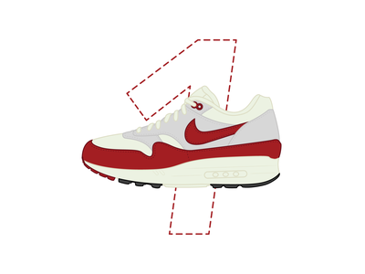26 Days of Air Max - Day 1 dailychallenge sneaker art design illustration vector icon therapy graphic design