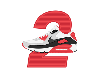 26 Days of Air Max - Day 2 daily challenge sneaker art design illustration vector icon therapy graphic design