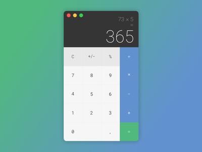 Dailyui004 — calculator