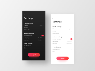 DailyUI007 — settings