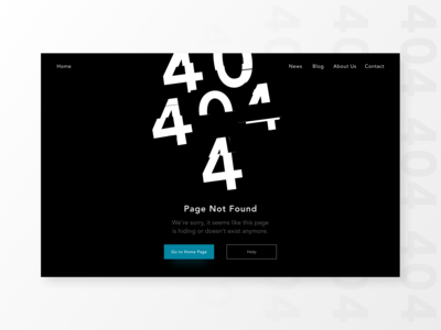 DailyUI008 — 404 page