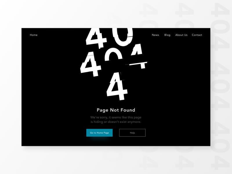 DailyUI008 — 404 page 404 page dailyui008 dailyui dailyuichallenge