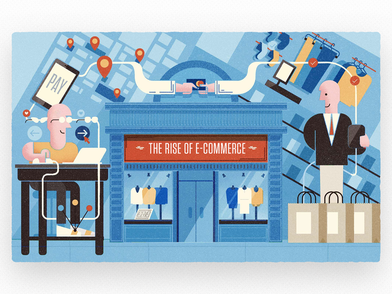 E-commerce Editorial Illustration