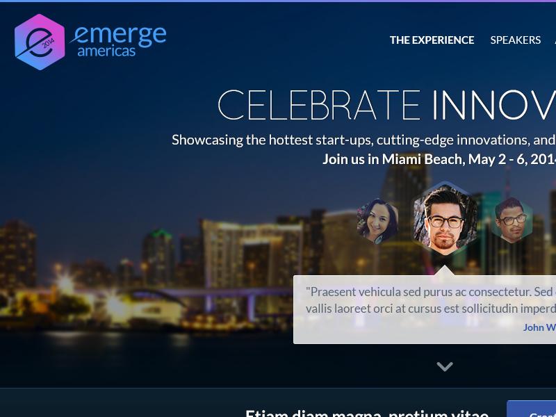 emerge Americas website website projec
