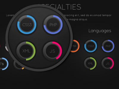 Circles Skills (Flat design)