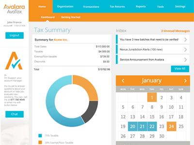 Tax Dashboard dashboard metrics data
