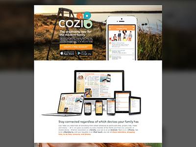 Cozi Landingpage3 homepage redesign