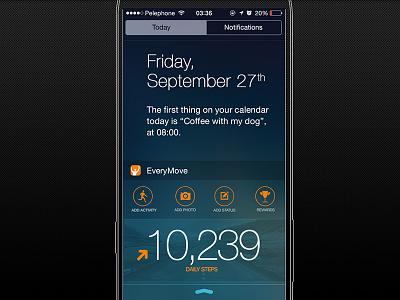 EveryMove Today Widget ios7 widget health fitness