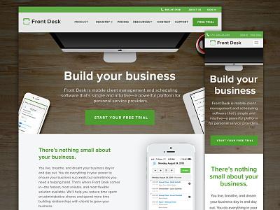 Front Desk Homepage b2b homepage responsive ux ui web
