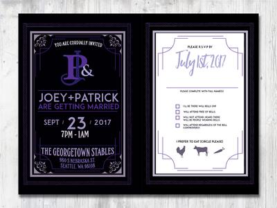 My wedding invite purple seattle invite wedding