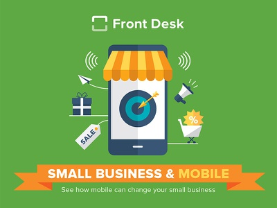 Small business & mobile marketing front desk mobile business flat pike13 frontdesk whitepaper