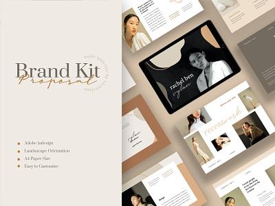 Rachel – Welcome Kit Branding Template printdesign print template printtemplate brochure promotion fashion lookbook magazine indesign adobeindesign partnershipproposal blogger mediakit