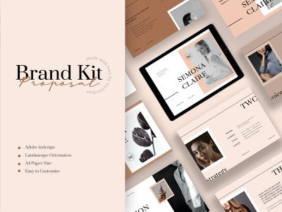 Semona – Branding Proposal Template printdesign print template printtemplate brochure promotion fashion lookbook magazine indesign adobeindesign partnershipproposal blogger mediakit