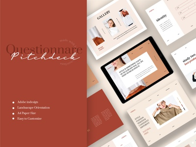 Claire – Pitchdeck Questionnare Template apparel logbook a4 flyer brochure promotion design sale catalogue clothing business models mode